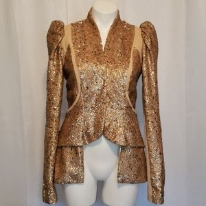 Willow size 6 Gold Sequin (bubble butt) Jacket